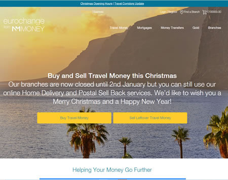 Eurochange Travel Money Website