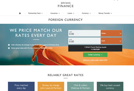 John Lewis Finance Website