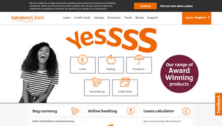 Sainsburys Bank Website